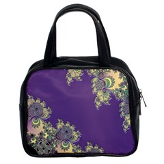 Purple Symbolic Fractal Classic Handbag (Two Sides)