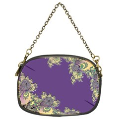 Purple Symbolic Fractal Chain Purse (One Side)