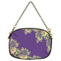 Purple Symbolic Fractal Chain Purse (Two Sided)