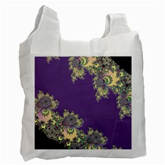 Purple Symbolic Fractal Recycle Bag (Two Sides)