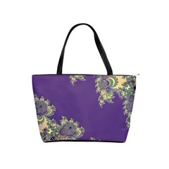 Purple Symbolic Fractal Large Shoulder Bag