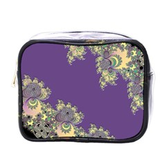 Purple Symbolic Fractal Mini Travel Toiletry Bag (One Side)