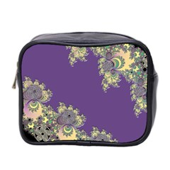 Purple Symbolic Fractal Mini Travel Toiletry Bag (Two Sides)