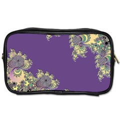 Purple Symbolic Fractal Travel Toiletry Bag (two Sides)