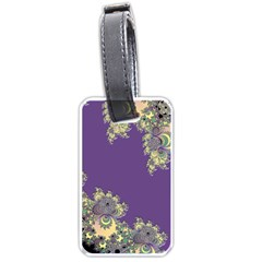 Purple Symbolic Fractal Luggage Tag (Two Sides)