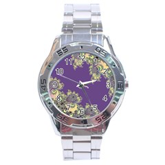 Purple Symbolic Fractal Stainless Steel Watch