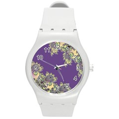 Purple Symbolic Fractal Plastic Sport Watch (Medium)