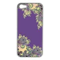 Purple Symbolic Fractal Apple Iphone 5 Case (silver)