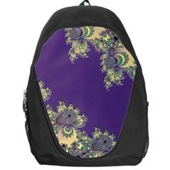 Purple Symbolic Fractal Backpack Bag