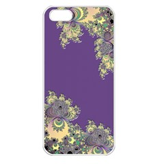 Purple Symbolic Fractal Apple Iphone 5 Seamless Case (white)