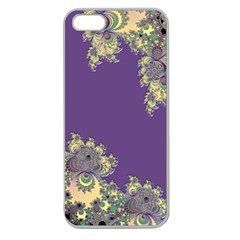 Purple Symbolic Fractal Apple Seamless Iphone 5 Case (clear)