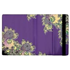 Purple Symbolic Fractal Apple iPad 2 Flip Case