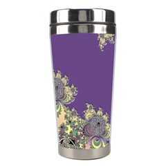 Purple Symbolic Fractal Stainless Steel Travel Tumbler