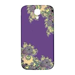 Purple Symbolic Fractal Samsung Galaxy S4 I9500/I9505  Hardshell Back Case