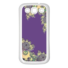 Purple Symbolic Fractal Samsung Galaxy S3 Back Case (White)