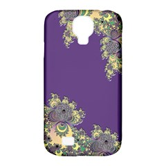 Purple Symbolic Fractal Samsung Galaxy S4 Classic Hardshell Case (PC+Silicone)