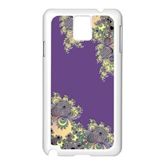 Purple Symbolic Fractal Samsung Galaxy Note 3 Case (White)