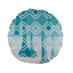 Water color knitted 15  Premium Round Cushion