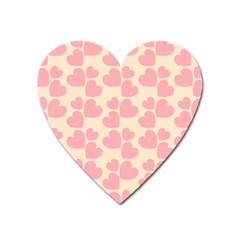 Cream And Salmon Hearts Magnet (Heart)