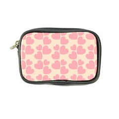 Cream And Salmon Hearts Coin Purse