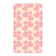 Cream And Salmon Hearts Memory Card Reader (Rectangular)