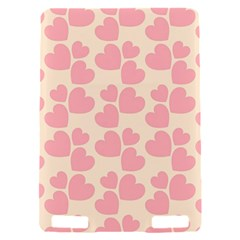 Cream And Salmon Hearts Kindle Touch 3G Hardshell Case