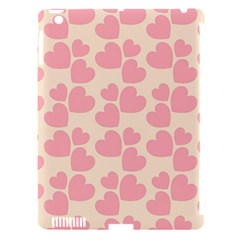 Cream And Salmon Hearts Apple iPad 3/4 Hardshell Case (Compatible with Smart Cover)