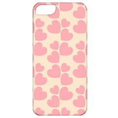 Cream And Salmon Hearts Apple iPhone 5 Classic Hardshell Case