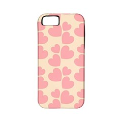 Cream And Salmon Hearts Apple iPhone 5 Classic Hardshell Case (PC+Silicone)