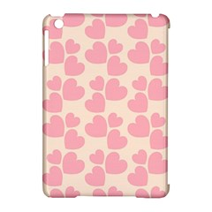 Cream And Salmon Hearts Apple iPad Mini Hardshell Case (Compatible with Smart Cover)