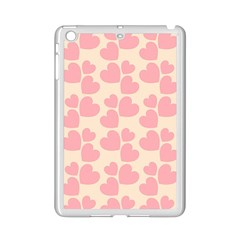 Cream And Salmon Hearts Apple iPad Mini 2 Case (White)