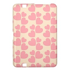 Cream And Salmon Hearts Kindle Fire Hd 8 9  Hardshell Case
