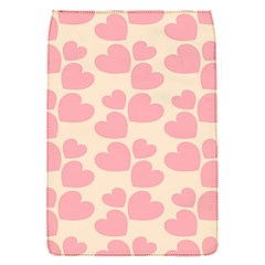 Cream And Salmon Hearts Removable Flap Cover (Small)