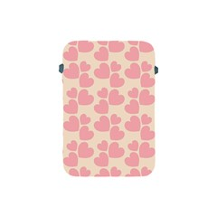 Cream And Salmon Hearts Apple iPad Mini Protective Sleeve