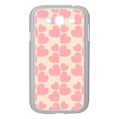 Cream And Salmon Hearts Samsung Galaxy Grand DUOS I9082 Case (White)