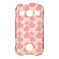 Cream And Salmon Hearts Samsung Galaxy S7710 Xcover 2 Hardshell Case