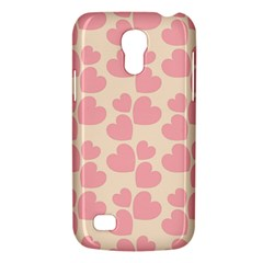 Cream And Salmon Hearts Samsung Galaxy S4 Mini (gt I9190) Hardshell Case
