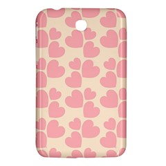Cream And Salmon Hearts Samsung Galaxy Tab 3 (7 ) P3200 Hardshell Case