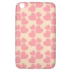 Cream And Salmon Hearts Samsung Galaxy Tab 3 (8 ) T3100 Hardshell Case