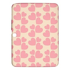 Cream And Salmon Hearts Samsung Galaxy Tab 3 (10.1 ) P5200 Hardshell Case