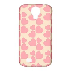 Cream And Salmon Hearts Samsung Galaxy S4 Classic Hardshell Case (PC+Silicone)