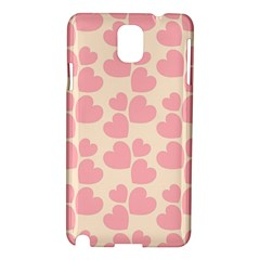 Cream And Salmon Hearts Samsung Galaxy Note 3 N9005 Hardshell Case
