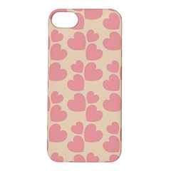 Cream And Salmon Hearts Apple iPhone 5S Hardshell Case