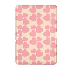 Cream And Salmon Hearts Samsung Galaxy Tab 2 (10.1 ) P5100 Hardshell Case