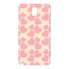 Cream And Salmon Hearts Samsung Galaxy Note 3 Hardshell Back Case