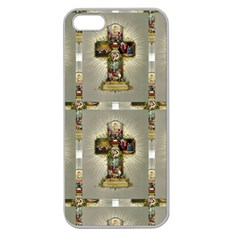 Easter Cross Apple Seamless iPhone 5 Case (Clear)