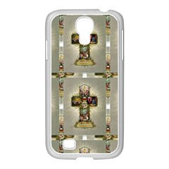 Easter Cross Samsung GALAXY S4 I9500/ I9505 Case (White)