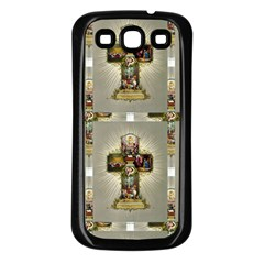 Easter Cross Samsung Galaxy S3 Back Case (Black)