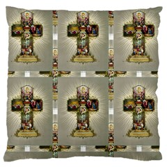 Easter Cross Large Cushion Case (Single Sided)