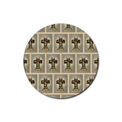 Easter Cross Drink Coaster (Round)